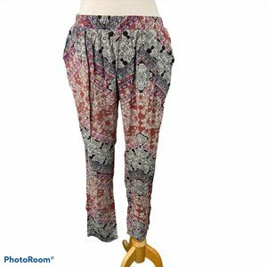 VERO MODA 100% Viscose Pants with Boho Print